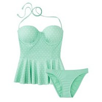 Xhilaration® Junior's Peplum 2-Piece Swimsuit -Assorted Colors