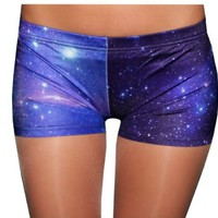 Galaxy Blue Spandex Shorts