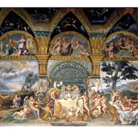 Bbanquet Celebrating the Marriage of Cupid and Psyche from the Sala Di Amore E Psiche, 1527-31 Giclee Print by Giulio Romano at Art.com