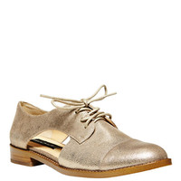 Shoes | Loafers & Oxfords | Allovr Metallic Leather Oxfords | Lord and Taylor