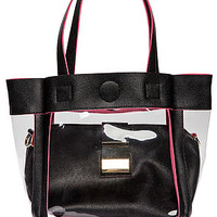 The West Avenue Bag in Transparent Black
