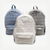 Engineer Striped Canvas Backpack