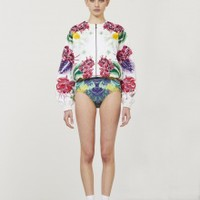 July Embroidered Bomber Jacket | NOT JUST A LABEL