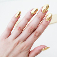 Gold Leaf for Nail Art, 20 sheets Imitation 24k gold, gilding, nail art foil