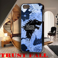 Winter Map Game Of Thrones for iPhone 4, iPhone 4s, iPhone 5 /5s/5c, Samsung Galaxy S3, Samsung Galaxy S4 Case