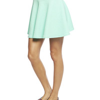 Floral Textured Ponte Skater Skirt | Wet Seal