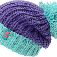 Neff Women's Sofia Purple & Blue Fold Beanie