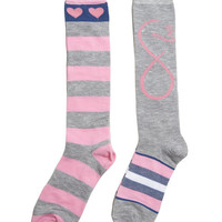 Love Stripe Sock Pack | Wet Seal