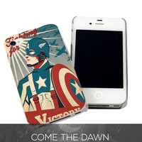 Captain America Poster Vintage for iPhone 4, iPhone 4s, iPhone 5 /5s/5c, Samsung Galaxy S3, Samsung Galaxy S4 Case