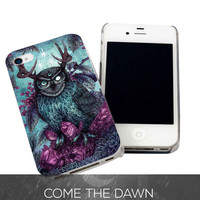 Hipster Owl Art for iPhone 4, iPhone 4s, iPhone 5 /5s/5c, Samsung Galaxy S3, Samsung Galaxy S4 Case