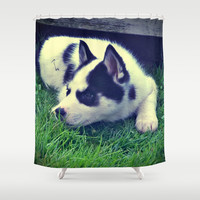 Echo Shower Curtain by Yoshigirl
