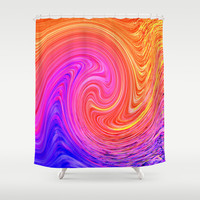 MARTIAN WAVE Shower Curtain by Catspaws