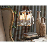 Hanging Glass Bottle Light Fixture