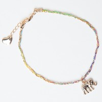 ELEPHANT BRAIDED CHAIN BRACELET