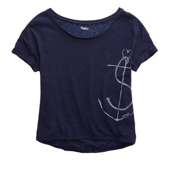 AERIE ANCHOR GRAPHIC T-SHIRT