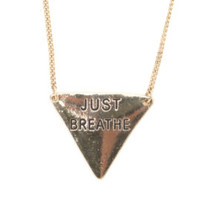 With Love From CA Just Breathe Necklace at PacSun.com