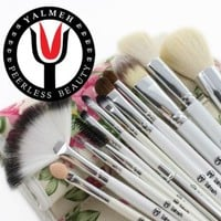 Yalmeh Professional Makeup Brush Set| Pro Cosmetic 12-Piece, Makeup Brush Set With Case| Makeup Brush Set| Eye Makeup Brush Set| Synthetic Makeup Brush Set| Yalmeh Professional Makeup Brush Set Could Be The Last Makeup pro Brush Set You Ever Need! Travel M