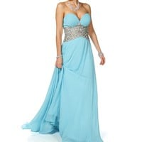 Pre-Order: Dahlia- Baby Blue Long Prom Dress