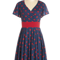 Feeling Footloose Dress in Navy | Mod Retro Vintage Dresses | ModCloth.com