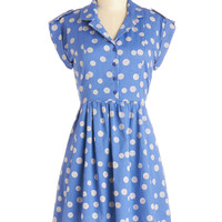 Champs-Elysees You Do Too Dress in Cornflower | Mod Retro Vintage Dresses | ModCloth.com