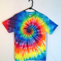 Tie Dye T-Shirt - Classic Rainbow Galaxy Spiral - 100% Cotton Mens & Womens Shirt
