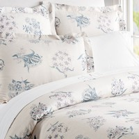 ABIGAIL FLORAL DUVET COVER, FULL/QUEEN, LILAC