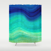 SEA BEAUTY 3 Shower Curtain by Catspaws
