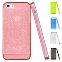 ESR Dazzling Series Glittering Soft TPU Back Cover Snap on Case for iPhone 5 / 5S (Crystal Pink)