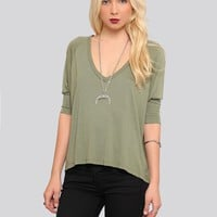 MICHELLE DOLMAN TOP - MOSS