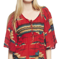Circle Southwest Top | Wet Seal