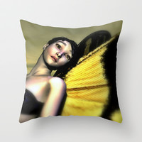 Madame Butterfly Throw Pillow by Sandra Bauser Digital Art