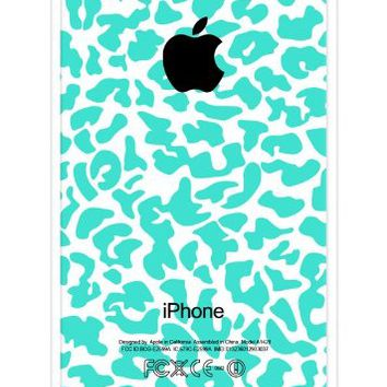 Turquoise Cheetah Pattern RUBBER iPhone 5C Case - Fits iPhone 5C T-Mobile, Verizon, AT&T, Sprint and International