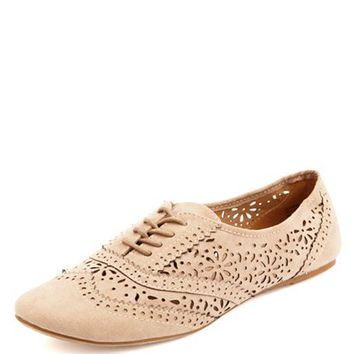 LASER-CUT EYELET BROGUE OXFORDS