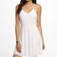 HALTER SLIP DRESS - WHITE
