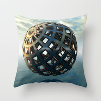 Time and Space Throw Pillow by Sandra Bauser Digital Art