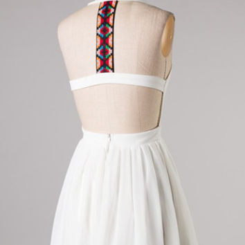 Miami Nights Dress - White - Hazel & Olive