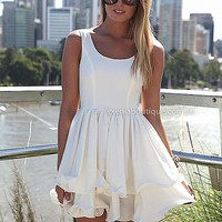 PRE ORDER - ELIXIR FRILL DRESS (Expected Delivery 19th March, 2014) , DRESSES, TOPS, BOTTOMS, JACKETS & JUMPERS, ACCESSORIES, 50% OFF SALE, PRE ORDER, NEW ARRIVALS, PLAYSUIT, COLOUR, GIFT VOUCHER,,White,SLEEVELESS,MINI Australia, Queensland, Brisbane