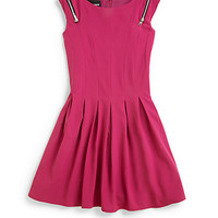 Girl's Shoulder Zip Dress
