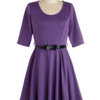 Abiding Beauty Dress in Purple