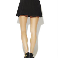 Mesh Overlay Skater Skirt | Wet Seal
