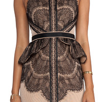 Three Floor Back to Black Dress in Nude/Black from REVOLVEclothing.com