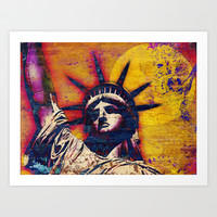 STATUE OF LIBERTY Art Print by The Griffin Passant