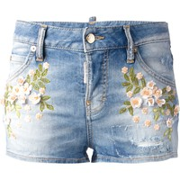 Dsquared2 Embroidered Denim Shorts