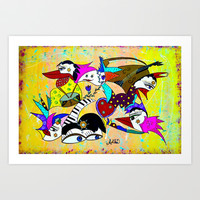 Wide Awaken Art Print by Adka