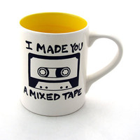 Make a Mixed Tape Mug Fun DIY personalized custom gift by LennyMud