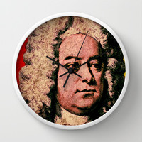 Georg Friedrich Händel Wall Clock by The Griffin Passant