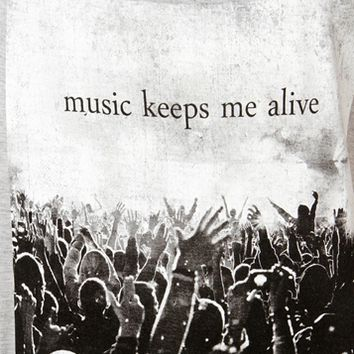 H. Grey Music Keeps Me Alive T-Shirt