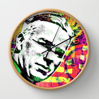 CHARLIE CHAPLIN Wall Clock by The Griffin Passant