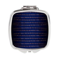 Abstract Luxury Dotted Lines Square Compact Mirror