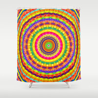 Batik Bullseye Shower Curtain by Peter Gross